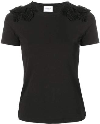Dondup lace-detail fitted T-shirt