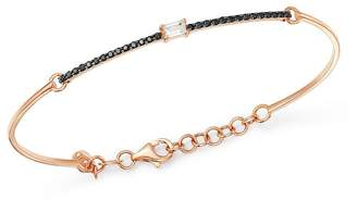 Black Diamond OWN YOUR STORY 14K Rose Gold Linear White Baguette & Bangle Bracelet