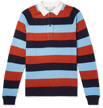 You As Marco Striped Merino Wool Polo Shirt