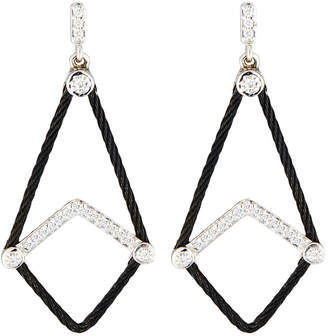 Alor Triangle Earrings w\/ Diamonds Black