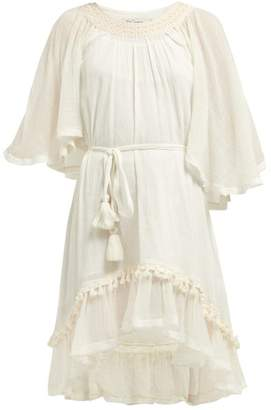 Mes Demoiselles Gregale Crinkled Cotton Dress - Womens - Ivory