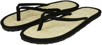 fb3cff1134a0db Accessorize Plain Black Seagrass Flip Flops
