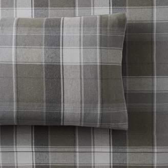 Pottery Barn Teen Aspen Organic Plaid Flannel Sheet Set, Twin/Twin XL, Moss Green