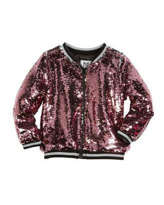 Milly Minis Moveable Sequin Bomber Jacket, Size 4-7