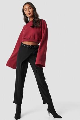 Ivana Santacruz X Na Kd Front Overlap Pants Black