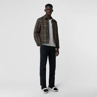 Burberry Fleece-lined Check Harrington Jacket