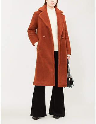 Maje Gourson faux-shearling coat