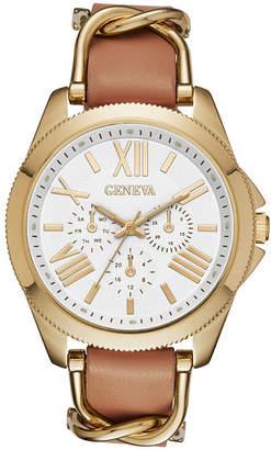 GENEVA Geneva Gold-Tone Womens Strap Watch
