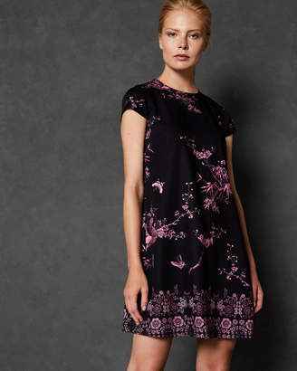 Ted Baker TALUULA The Orient back pleat dress