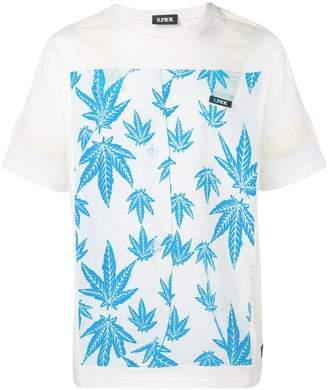 U.P.W.W. leaf print T-shirt