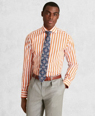 Brooks Brothers Golden Fleece Regent Fitted Dress Shirt, English Collar Multi-Stripe Poplin