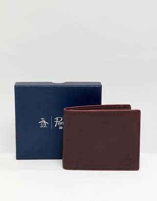 Original Penguin leather wallet in brown