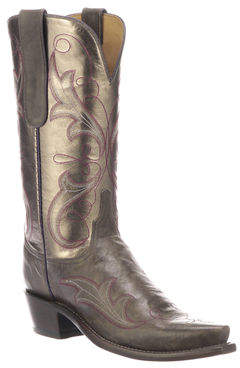 Lucchese Tansy Mixed Metallic Boots