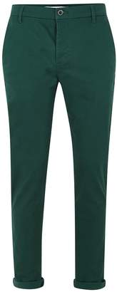 Topman Bottle Green Stretch Skinny Chinos