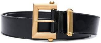 Versace embossed buckle belt