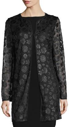 Karl Lagerfeld Paris Floral Lace Topper Jacket