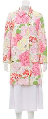 Burberry Floral Knee-Length Coat