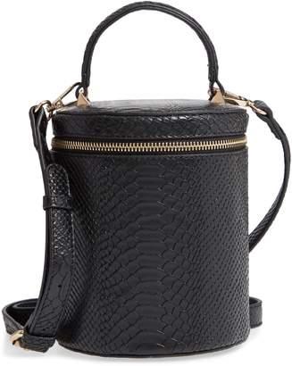 Kaé Jules Marion Snake Embossed Bucket Bag