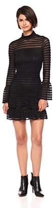 Parker Women's Topanga high Neck Long Sleeve Fitted Short Dress