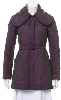 Burberry Quilted Short Coat Purple Quilted Short Coat