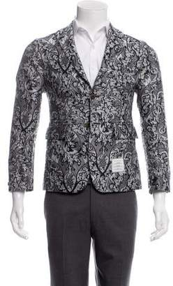 Thom Browne Embroidered Paisley Print Sport Coat