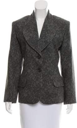 Saint Laurent Lace Print Wool Blazer