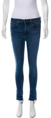 Rag & Bone Frayed Mid-Rise Jeans