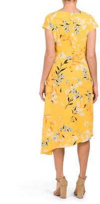 Donna Morgan Floral Dress With Asymmetrical Hem