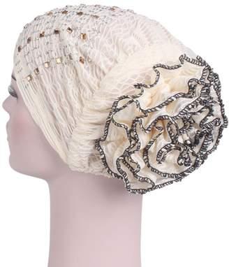 Eliffete Black Turban Hats Chemo Caps Head Scarves Wraps Cancer Patients