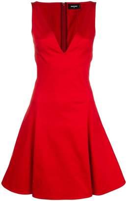 DSQUARED2 V-neck flared dress