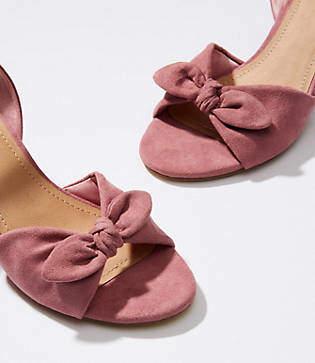 LOFT Bow Wedge Sandals