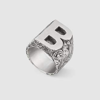 """Gucci Letter """"B"""" ring in silver"""