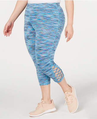 Ideology Plus Size Space-Dyed Cropped Leggings