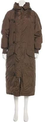 Ralph Lauren Shearling-Trimmed Long Coat