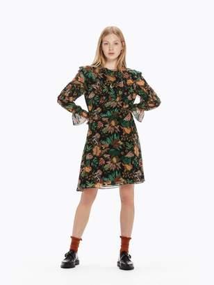 Scotch & Soda Ruffle Jungle Print Dress
