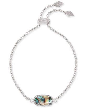 Kendra Scott Elaina Silver Chain Bracelet in Abalone Shell