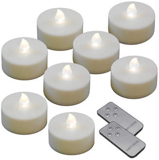 Jh Specialties Inc/lumabase Lumabase Set of 8 White Extra Large Battery Operated LED Tealights with Remote Control and Timer