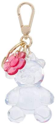 Furla teddy bear flower keyring