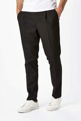 Next Mens Black Formal Pleated Trousers