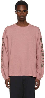 Robert Geller Pink Long Sleeve Im Scared Too T-Shirt