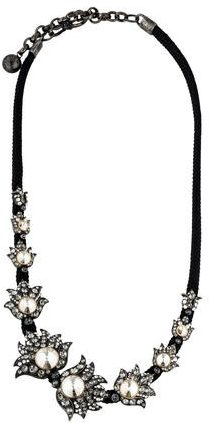 Lanvin Lanvin Crystal Station Cord Necklace