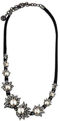 LanvinLanvin Crystal Station Cord Necklace