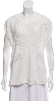 IRO Distressed Sleeveless Sweatshirt Top