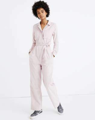 Corduroy Belted Jumpsuit