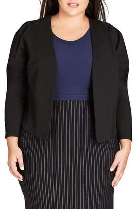 City Chic Office Fling Jacket