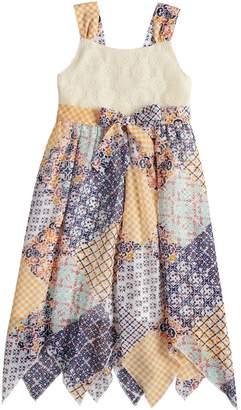 Girls 4-6x Blueberi Boulevard Crochet Handkerchief-Hem Sundress