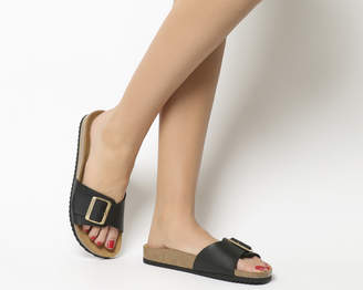 Office Sleek Big Buckle Footbed Sandals
