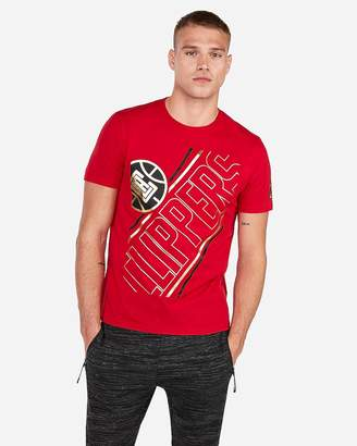 Express Los Angeles Clippers Nba Crew Neck Foil Graphic T-Shirt