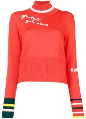 Mira Mikati fine knit embroidered sweater
