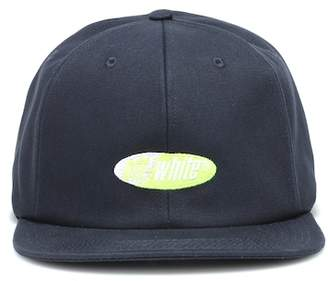 Off-White Embroidered cotton cap